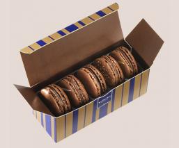 Etui 5 macarons chocolat