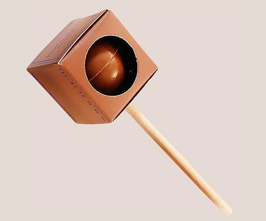 Milk chocolate lollipop