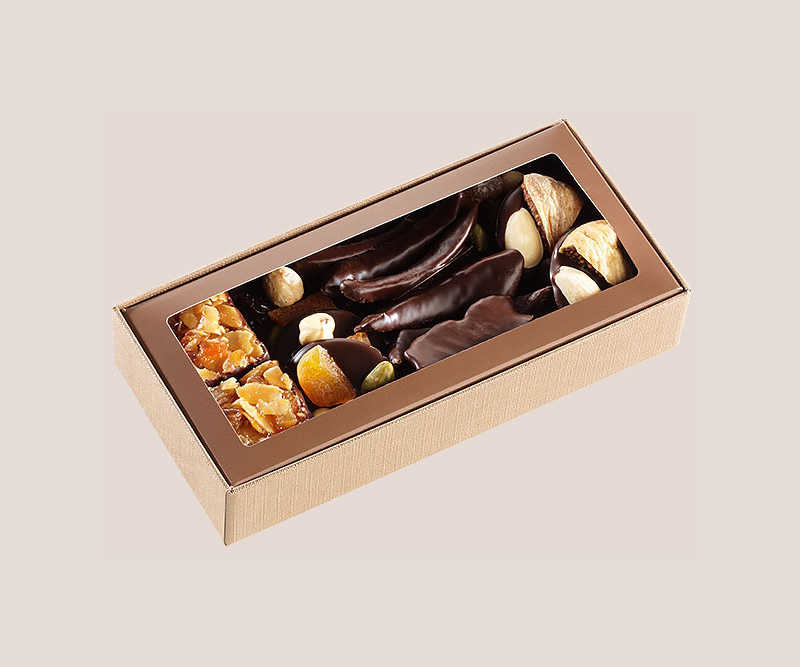 boite chocolats et fruits 140g