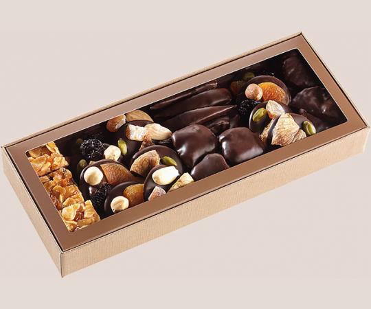 boite chocolats et fruits 310g