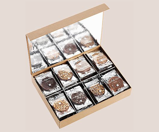 Assortment of chocolate palets