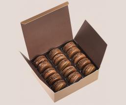 Etui 15 macarons tout chocolat