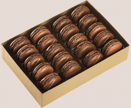 Coffret 20 macarons chocolat