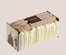 Cocoa chocolate vacherin