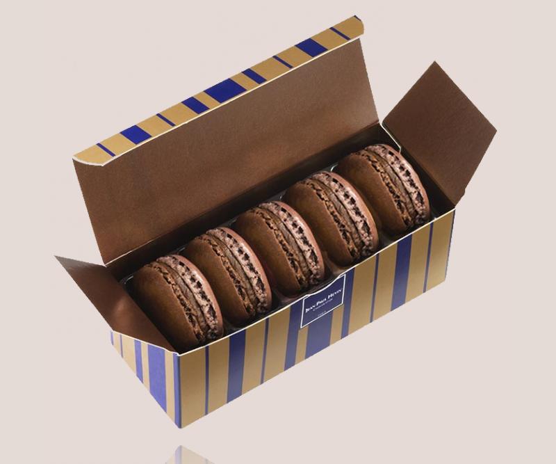 Etui 5 macarons Millot chocolat noir